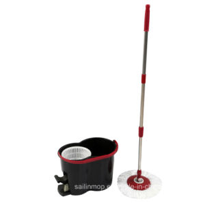 Hand Press Spin Mop with Plastic Basket Bucket with Pedal (SL-S015)