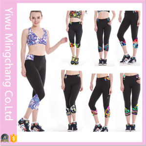 2016 Latest Style European and American Printing Cropped Sport Pants pictures & photos