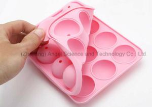 FDA LFGB Standard 12 Cavities Round Silicone Lolly Pop Candy Mold Mini DIY Silicone Cake Mold Sc11 pictures & photos