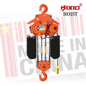 Gear Reducer 10 Ton Electric Chain Hoist with Hook pictures & photos