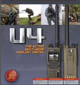 Tactical Digital GPS VHF Low Radio, High Security Tactial Radio with AES-256 Security Encryption