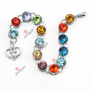 Fashion Custom Alloy Metal Bracelet with Color Crystal Stone (AMB50805) pictures & photos