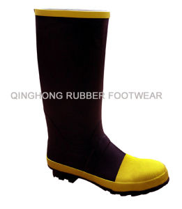 Rubber Knee Boots With Steel Toe