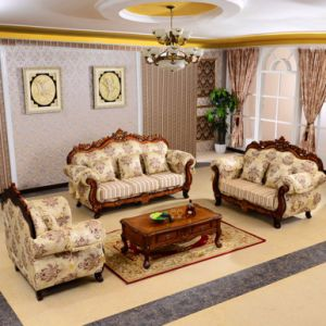 Fabric Sofa with Cabinet Set for Living Room Furniture