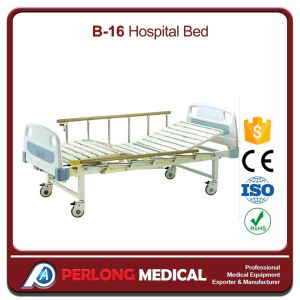 Hospital Bed Movable Full-Fowler Patient Bed with ABS Headboards (B-16) pictures & photos