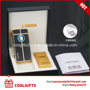 New Design Fingerprint Induction Dual Arc USB Charged Electric Lighter pictures & photos