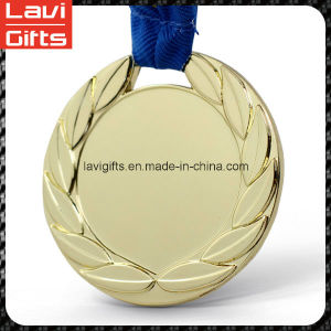Wholesale Unique Cheap Zinc Alloy Custom Craft 3D Round Promotion Souvenir Sport Award Gold Metal Sport Blank Medal with Printing Sticker Inserts Logo pictures & photos