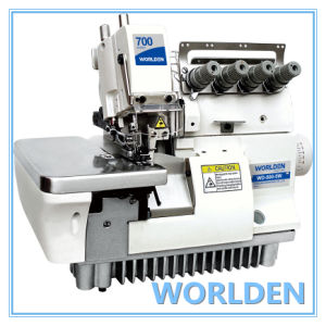 Wd-700-5W Super High Speed Wide Needle Gage Overlock Sewing Machine pictures & photos