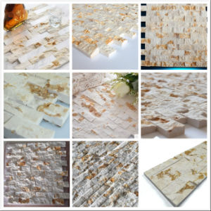 Hot Sunny Beige Golden Marble Culture Stone Wall Cladding pictures & photos