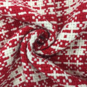 Braided Check Wool Fabric Ready Greige pictures & photos