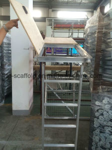 Aluminum Scaffolding Plywood Plank with Ladder and Trapdoor pictures & photos