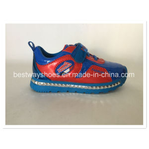 Fashion Shoes for Boy Sneaker with Mirror PU Leather pictures & photos
