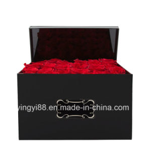 Custom Acrylic Plastic Rose Box with Lid pictures & photos