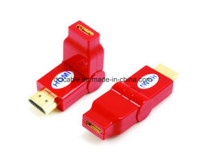 180 Degree Rotating Mini HDMI Female to HDMI Male Adapter pictures & photos