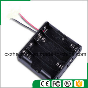 4AA Battery Holder with Red/Black Wire Leads pictures & photos