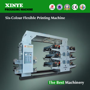 Six-Color Flexo Printing Machine for Paper Plastic Film Nonwoven pictures & photos
