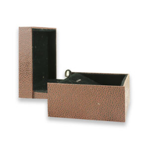 High Quality Cardboard Logo Printed PU Leather Customized Watch Box pictures & photos