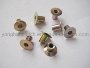 6X6mm Zinc Yellow Plated Full Hollow Clutch Facing Rivets pictures & photos