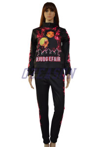 OEM Fashion Design Slim Fit Women Tracksuit Jogging Suit (TJ007) pictures & photos