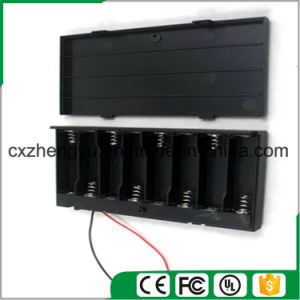 8AA Battery Holder with Red/Black Wire Leads, Cover and Switch pictures & photos