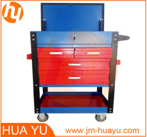 Mutifunctional Tool Cart with Gas Spring Open Top Cover/Sliding Drawers pictures & photos