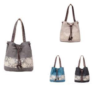 Wholesale Women Handle Shopping Leisure Single Canvas Bag Handbags