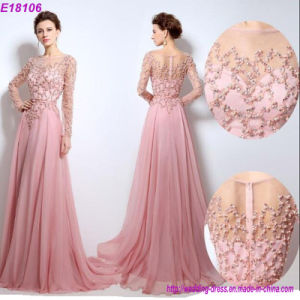 Wholesale New Arrival Sexy Long Sleeve Women Beaded Evening Dress pictures & photos