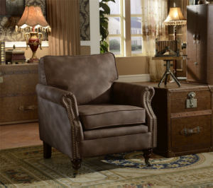 Living Room Furniture Set Genuine Leather Armchair pictures & photos