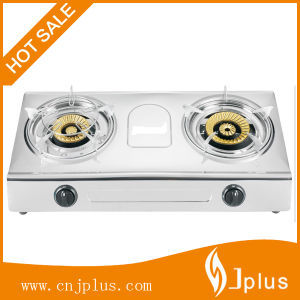 Bangladesh 0.45mm*0.35mm Stainless Steel Two Burner Gas Stove Jp-Gc226 pictures & photos