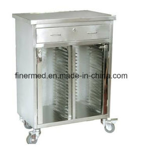 Stainless Steel Hospital Patient File Folder Trolley Cart pictures & photos