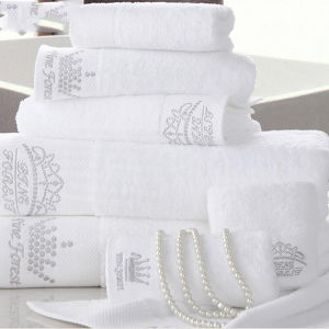 High Quality Egyptian Cotton Towel Promotion Hotel Embroidery Bath Towels pictures & photos