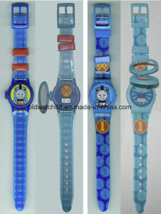 Cheap Silicone 3D Cartoon Band Children Watch for Promotional Gift pictures & photos