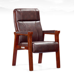 Classic Design Wooden Arms Hotel Reception Lobby Chair (NS-CF068) pictures & photos