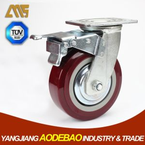 Heavy Duty Double Brake PVC Caster Wheels pictures & photos