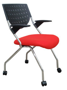 Adjustable Arms Plastic Back Folding Traing School Chair (HX-GS331) pictures & photos