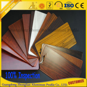 China Manufacturer Wood Grain Aluminium Extrusion Profile pictures & photos