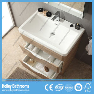 Slanting Floor Standing Modern High Quality Bathroom Cabinet (BF367D) pictures & photos