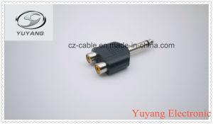 6.35mm Mono Plug to 2X RCA Jacks pictures & photos