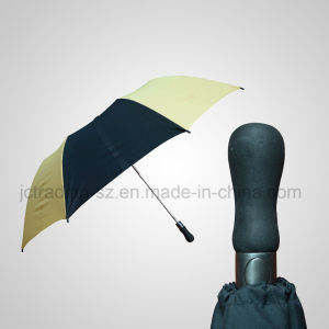 2 Section Automatic Open Golf Foldable Umbrella pictures & photos