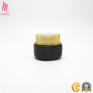 Black Glass Jar with Golden Cap pictures & photos