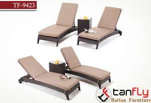 Beach Poolside Wholesale Price Plastic Wicker Recliner Relax Rattan Lounge pictures & photos