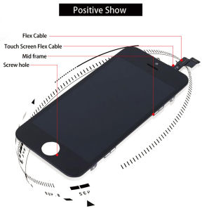 Tianma Mobile/Cell Phone LCD Touch Screen for iPhone 5g 5s 5c LCD Display pictures & photos