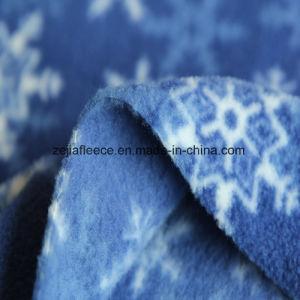 Antipilling Polar Fleece with Snow Print pictures & photos