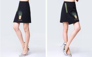 Summer Fashion Simple Irregular Black Ladies Dress pictures & photos