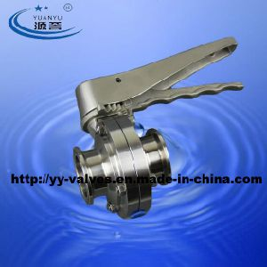 Triclamp Butterfly Valve Sanitary Stainless Steel pictures & photos