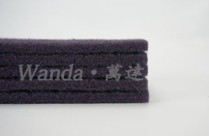 Bow-Tie Shape Abrasive Purple Polyester Cleaning Scouring Pad pictures & photos