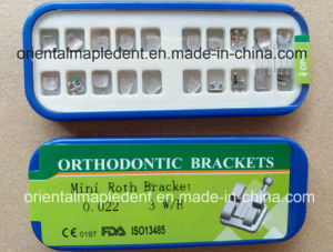 Orthodontic MIM Mesh Base Roth Metal Bracket pictures & photos