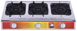 Triple Burner Stainless Steel Gas Stove pictures & photos