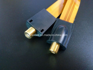 32cm with Golden F Female Connector Windown Flat Cable (Ca-004) pictures & photos