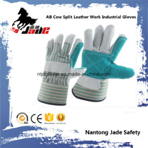 Ab Grade Cowhide Split Leather Industrial Safety Work Glove pictures & photos